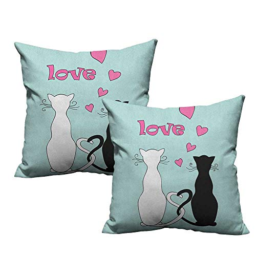 Tangled Couple Costumes - warmfamily Fashion Pillowcase Cat Black and