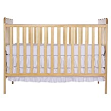 Dream On Me Classic 3 in 1 Convertible Stationary Side Crib, Natural