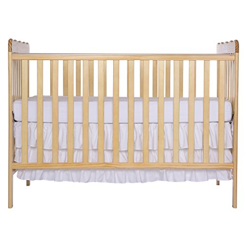 Dream On Me Classic 2 in 1 Convertible Stationary Side Crib, Cuna, Natural, No hay talla