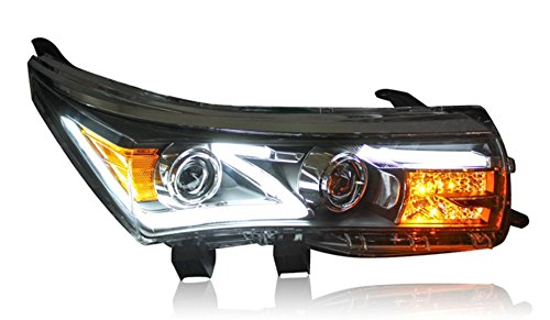 GOWE Car Styling for Toyota Corolla Headlights 2014-2016 Altis LED Headlight DRL Bi Xenon Lens High Low Beam Parking Fog Lamp Color Temperature:8000K;Wattage:35K 1