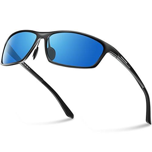 PAERDE Polarized Wayfarer Sunglasses For Men Women Retro UV400 Brand Designer Sun glasses Metal Frame - Sunglasses Men Brands