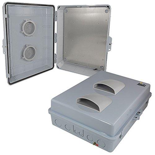 Altelix 17x14x6 Vented Polycarbonate + ABS Weatherproof Tamper Resistant NEMA Enclosure with Aluminum Equipment Mounting (Enclosure Mounting)