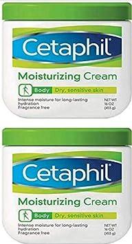 Cetaphil Moisturizing Cream for Very Dry Sensitive Skin, Fragrance-free, mild, non-irritating -16 Ounces Jar 2 Pack