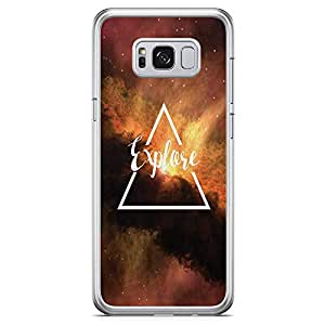 Samsung Galaxy S8 Transparent Edge Phone Case Explore Phone Case Sky Phone Case Galaxy Samsung S8 Cover with See through edges