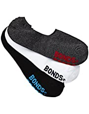 Bonds Men's Logo Footlet Socks (3 Pack)