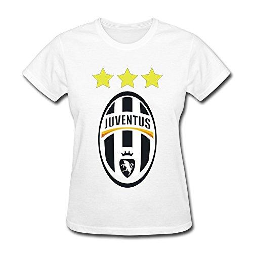 LIHOO Women's UEFA 2015 Juventus T-shirt White Size S