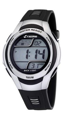 Calypso K6055/1 - Reloj de caballero de cuarzo, correa de plástico color negro