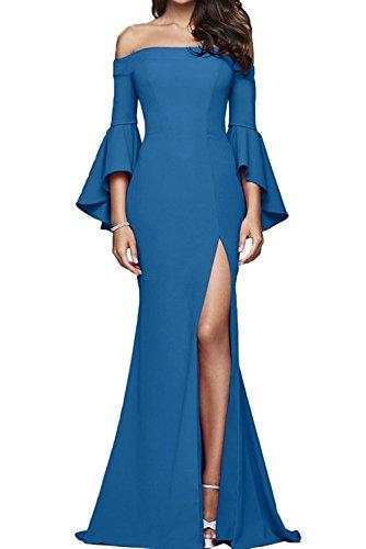 Damen Rot Partykleider Festlichkleider La mia Langarm Blau Etuikleider Braut Brautmutterkleider Abendkleider Figurbetont Lang qEEBt