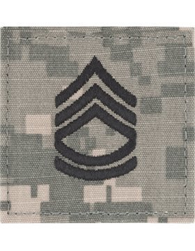 Military Sergeant Rank (Army Combat Uniform ACU Enlisted Rank (With Hook Fastener, E-7 Sergeant First Class))