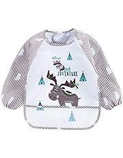 Amazingdeal Baby Bibs Long Sleeve Apron Kid Feeding Smock Bib Burp Clothes Accessories