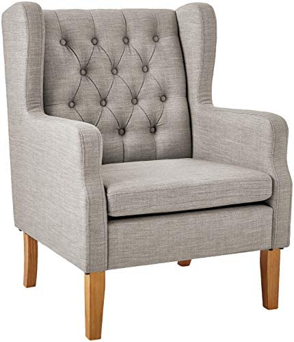 Amazon Brand Ravenna Home Margaret Modern Living Room Chair, 28 W, Light Grey