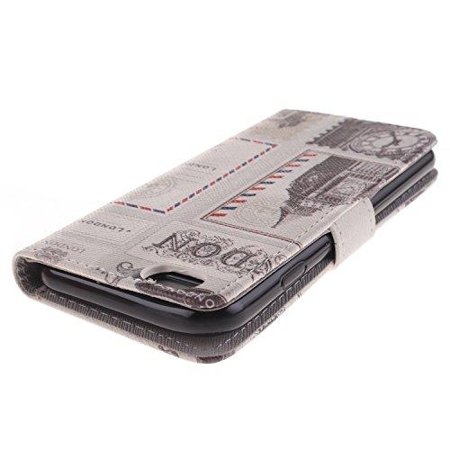 "MOONCASE iPhone 6 Case Magnetverschluss [Painted Patterns] Leder Tasche Flip Case Cover Schutzhülle Etui Hülle Schale für iPhone 6 (4.7"") -LK14"