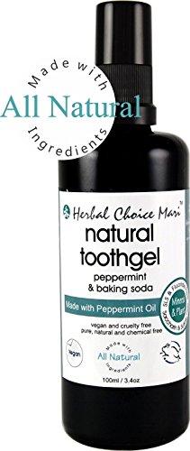 Herbal Choice Mari Natural Tooth-Gel Peppermint + Baking Soda 100ml/ (Peppermint Baking Soda)