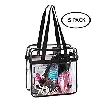 ec82f8795afe SET 3 NFL   PGA Compliant Clear Stadium Security Zippered Shoulder Bag  Travel Gym Tote Sturdy PVC Construction with External Pocket 12