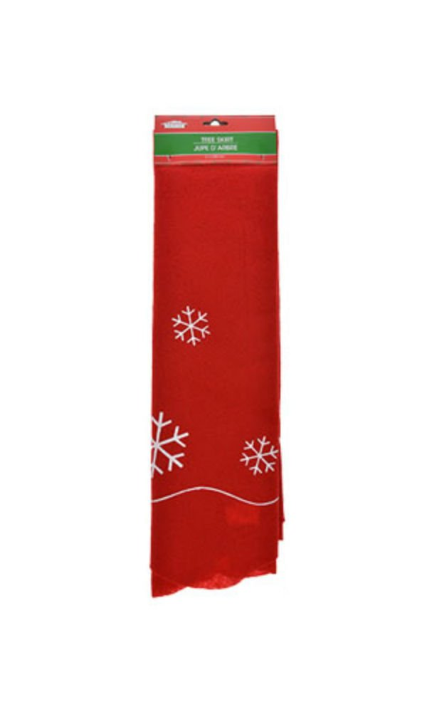 Christmas House Festive Felt Tree Skirt 41 White Holly