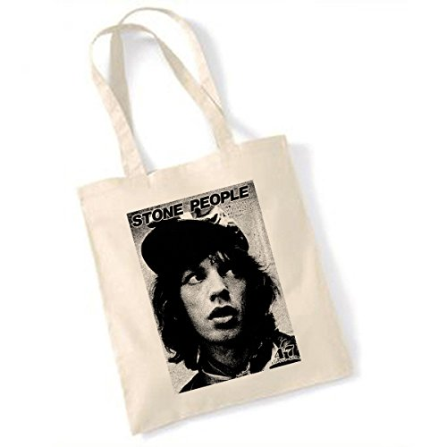 People Mick Stone Mick Jagger TOTE BAG Jagger TwxqZw86HO