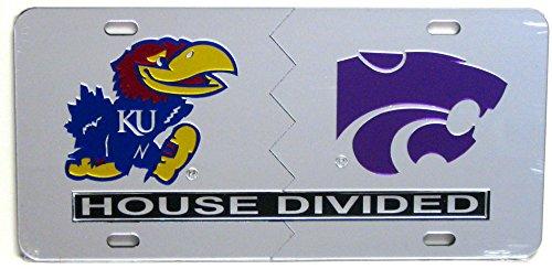 University of Kansas / Kansas State University House Divided License Plate