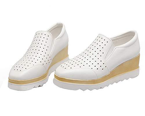 Chaussures Légeres Blanc Correct à AalarDom Mélangee TSFDH005745 Femme Talon Matière fqaHH6Ax