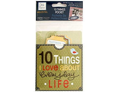 10 Things I Love About Everyday Life Journaling Pocket - Set Of 24 ( Scrapbooking, Scrapbook Accents )