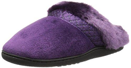 Isotoner Women's Velour Diane Hoodback Slippers