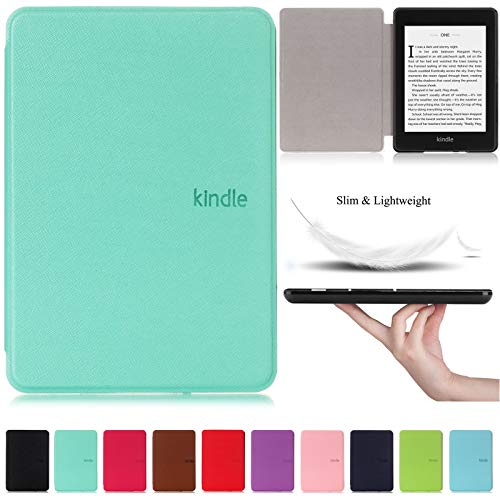 Kindle Paperwhite 10th Generation 2018 Case,Artyond PU Leather Case with Auto Wake/Sleep Feature Smart Cover Thinnest and Lightest Cover for Amazon Kindle Paperwhite 10th Gen 2018 Released (Mint)