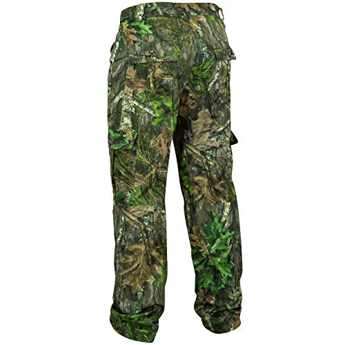 Mossy Oak Men's Tibbee Technical Lightweight Camo Hunting Pants, Obsession, Small