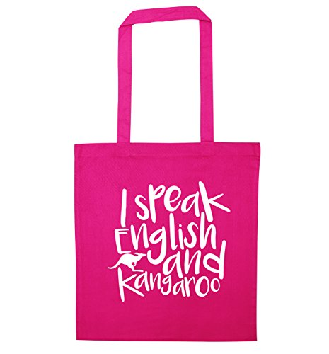 speak I kangaroo tote I speak bag and Pink English E5Fwqwf