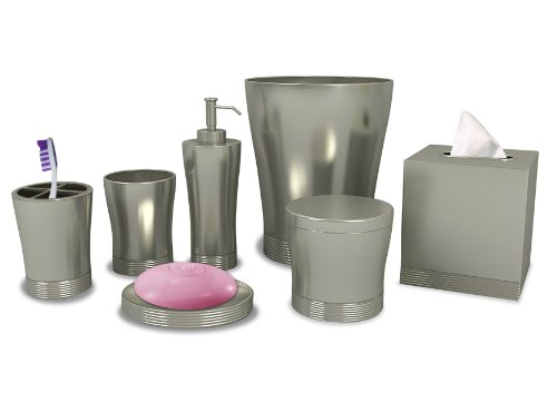 Matte Pewter Bathroom Accessory - nu steel Special Collection Bathroom Accessories Set,7-Piece