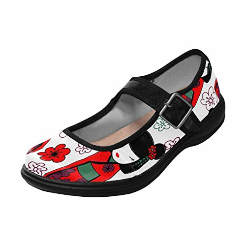 Interestprint Womens Komfort Mary Jane Lägenheter Tillfälliga Promenadskor Multi 2