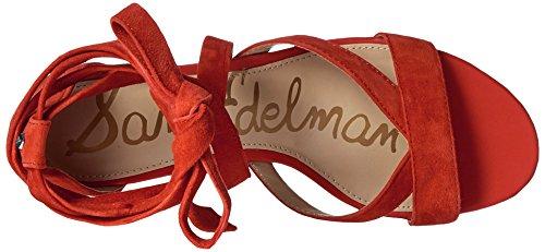Sam Edelman Sheri Wildleder Sandale Havana Red