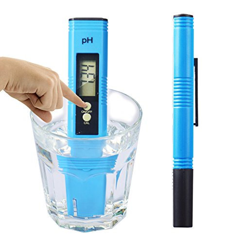 Digital PH Meter, PH Meter 0.01 PH High Accuracy Water Quality Tester with 0-14 PH Measurement Range for Household Drinking, Pool and Aquarium Water PH Tester Design with ATC by FindUWill