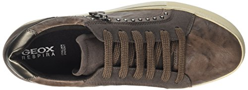Chestnut Hidence Taupe Sneakers B Marron Basses Femme Geox 0qxSdwS