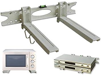 DRALL INSTRUMENTS Soporte de Pared Universal Soporte de microondas Plata Altavoz Cab Bluray Media Player Modelo: H75S