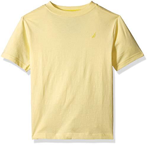 (Nautica Big Boys' Short Sleeve Solid Crew-Neck T-Shirt, Coast Light Yellow Medium (10/12) )