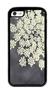 Zheng caseApple Iphone 5C Case,WENJORS Uncommon Black and White Queen Annes Lace Soft Case Protective Shell Cell Phone Cover For Apple Iphone 5C - TPU Black