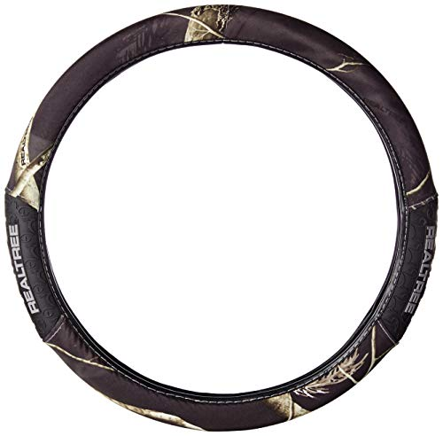 Realtree Camo Steering Wheel Cover, AP Black, Truck