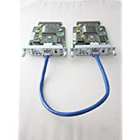 Cisco CCENT CCNA CCNP CCIE Lab 2x WIC-1DSU-T1 V2 WAN Cards and CAT5 Serial Cable