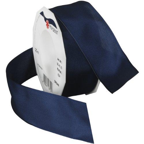 Morex Ribbon 09638/20-624 Dream Wired Taffeta Ribbon Spool, 1-1/2-Inch by 22-Yard, Navy Blue Wired Organza Ribbon