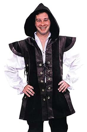 Renaissance Robin Hood Hooded Medieval Tunic Vest LARP