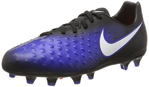 Nike Kids Magista Opus II Soccer Cleats, Black/White Paramount Blue, 5.5