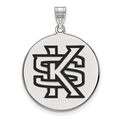 Kennesaw State Owls XL Disc Pendant in Sterling Silver 5.56 - Kennesaw Stores In