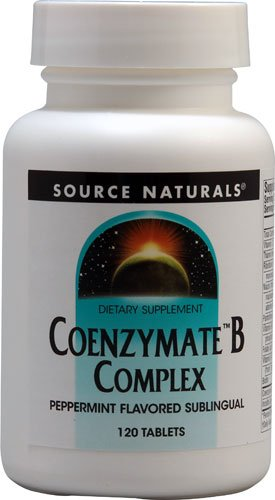 Source Naturals CoenzymateT B Complex Sublingual Peppermint -- 120 Tablets - 2PC by Source Naturals