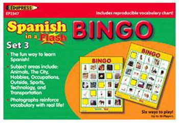 SPANISH IN A FLASH BINGO SET 3 from Edupress