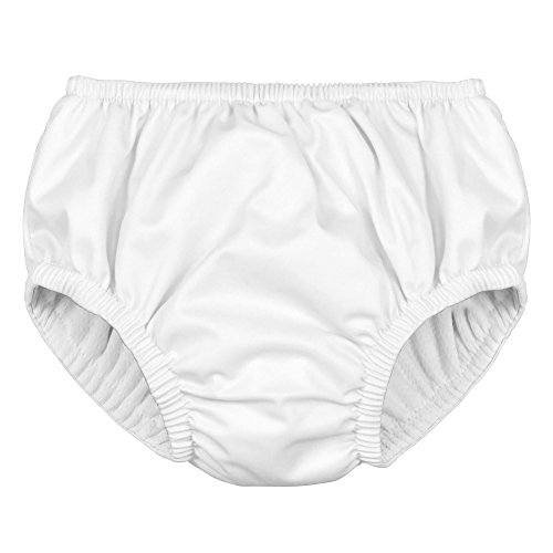 i play. Kids' Pull-up Reusable Absorbent Swim Diaper, White, 12mo