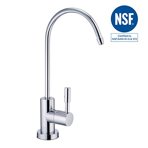 Standard Tube Sizes (NSF Certified 100% Lead Free Drinking RO Water Filter Reverse Osmosis Faucet Kitchen Sink Standard Size 1/4