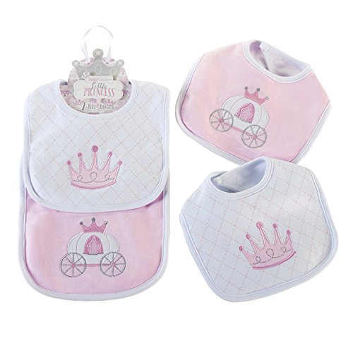 Aspen Girl (Baby Aspen Little Princess 2 Piece Bib Gift Set, Pink/White)