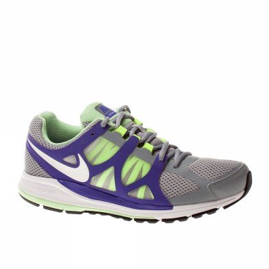 Nike Zoom Elite - Nike Women's Zoom Elite+ Running Shoe Gray/Purple/Neon (8.5)