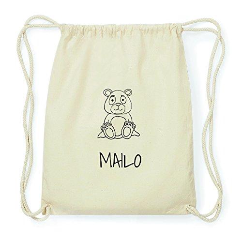 7afb02ca296062 JOllipets MAILO Hipster Turnbeutel Tasche Rucksack aus Baumwolle Design:  Bär b7AE5Ltmb