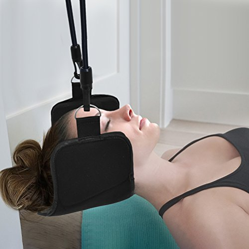 Bontata Neck Hammock Portable Cervical Traction Device for Relieves Head & Shoulder Pain in Less Than 10 Minutes. Comes with Bonus Eye Mask by Bontata (Image #4)