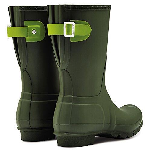 Hunter Womens Original Adjustable Back Short Snow Waterproof Rain Boots - Dark Olive/Kelp - 5 by Hunter (Image #4)